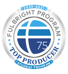 Fulbright Student Top Producer 2020-2021