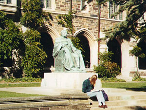 Fleming Statue at Graduate College of Princeton University