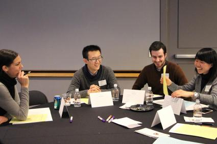 graduate students attending Pathways with a Phd event