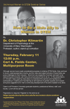 Women in STEM Seminar Series Poster