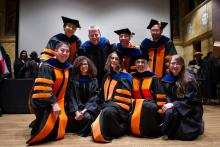 Photo of Graduates Gathered at the 2015 Princeton University Graduate School Hooding Ceremony