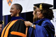 Hooding 2016 Princeton University image - Tera Hunter and Justene Hill