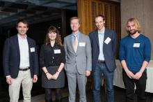 Dean Crittenden with the Jacobus Fellowship recipients