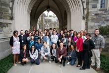 Prospective Ph.D. student photo with A,D & I staff (right front)